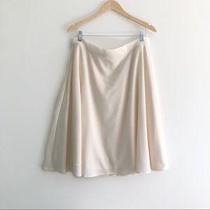 White Midi circle skirt